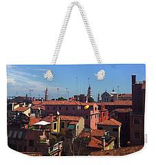 Weekender Tote Bag featuring the photograph Venetian Skyline by Anne Kotan
