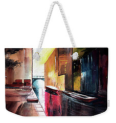 Weekender Tote Bag featuring the painting Venice 1 by Anil Nene