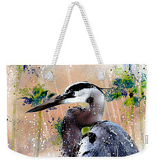 Weekender Tote Bag featuring the photograph Venice Avenue Great Blue by Barbara Chichester