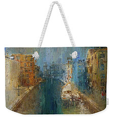 Venice Blue And Yellow Weekender Tote Bag