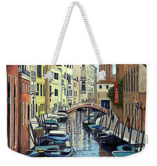 Venice Canal Reflections Weekender Tote Bag by Janet King