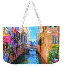 Venice Canal Painting Weekender Tote Bag