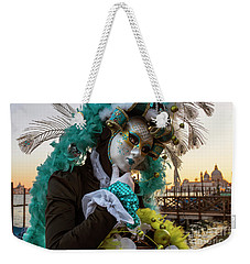 Weekender Tote Bag featuring the photograph Venice Carnival II '17 by Yuri Santin