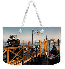 Weekender Tote Bag featuring the photograph Venice Carnival IIi '17 by Yuri Santin