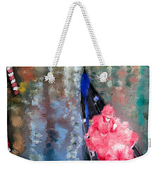 Venice Carnival. Masked Woman In A Gondola Weekender Tote Bag