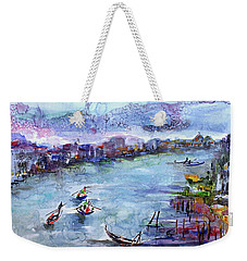 Venice Festivities Travel Italy Watercolor And Ink Weekender Tote Bag