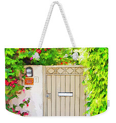 Weekender Tote Bag featuring the photograph Venice Gate by Chuck Staley