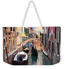 Venice Gondolier Weekender Tote Bag by Frozen in Time Fine Art Photography