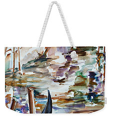 Weekender Tote Bag featuring the painting Venice Impression I by Xueling Zou
