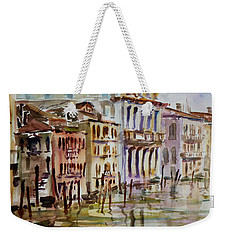 Weekender Tote Bag featuring the painting Venice Impression II by Xueling Zou