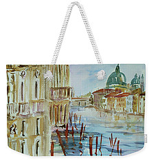Weekender Tote Bag featuring the painting Venice Impression IIi by Xueling Zou