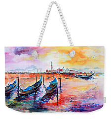 Venice Italy Gondola Ride Weekender Tote Bag
