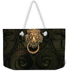Weekender Tote Bag featuring the photograph Venice Lion by Kathleen Scanlan