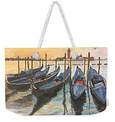 Weekender Tote Bag featuring the painting Venice by Lucia Grilletto