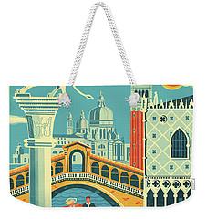 Venice Retro Travel Poster Weekender Tote Bag
