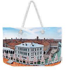 Weekender Tote Bag featuring the photograph Venice Rooftops by Fabrizio Troiani