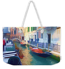 Weekender Tote Bag featuring the photograph Venice Sidewalk Cafe by Roberta Byram