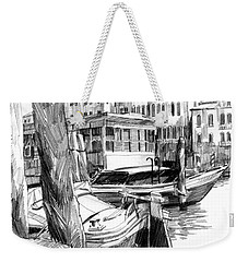 Venice Sketches. Vaporetto Jetty Weekender Tote Bag