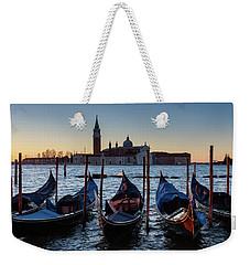 Venice Sunrise With Gondolas Weekender Tote Bag