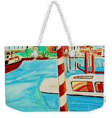 Venice Travel By Boat Weekender Tote Bag