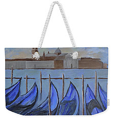 Weekender Tote Bag featuring the painting Venice by Victoria Lakes