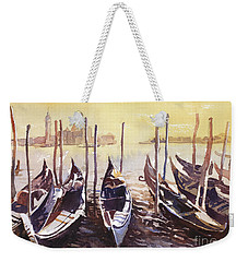 Weekender Tote Bag featuring the painting Venice Watercolor- Italy by Ryan Fox