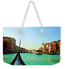 Weekender Tote Bag featuring the photograph Venice Waterway by Roberta Byram