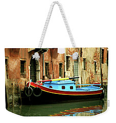 Venice Workboat 2 Weekender Tote Bag by David Gilbert