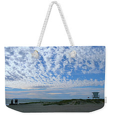 Ventura Beach With Blue Sky And  Puffy Clouds Weekender Tote Bag