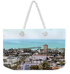 Ventura Coastal View Weekender Tote Bag by Art Block Collections