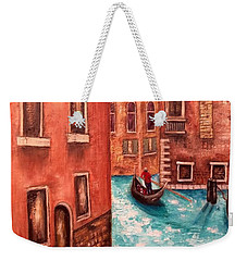 Weekender Tote Bag featuring the painting Venice by Annamarie Sidella-Felts
