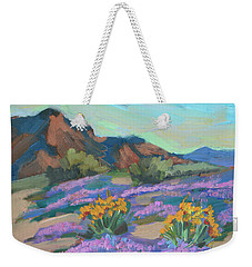 Weekender Tote Bag featuring the painting Verbena And Spring by Diane McClary