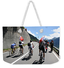 Weekender Tote Bag featuring the photograph Verbier - Tour De France 2009 by Travel Pics