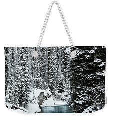 Verdant Creek - Winter 1 Weekender Tote Bag by Stuart Turnbull