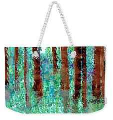 Weekender Tote Bag featuring the drawing Verdant Vistas by Seth Weaver