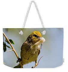 Verdin Building A Nest Weekender Tote Bag