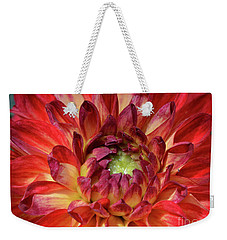 Variegated Dahlia Beauty Weekender Tote Bag