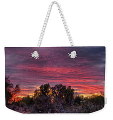 Verigated Sky Weekender Tote Bag