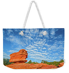 Vermillion Is The Color Of The Rock.  Weekender Tote Bag