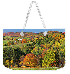 Vermont Autumn Landscape Weekender Tote Bag