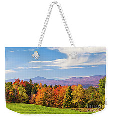 Vermont Autumn View Weekender Tote Bag