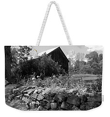 Vermont Barn And Stone Wall Weekender Tote Bag