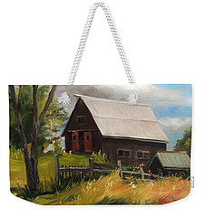 Vermont Barn Weekender Tote Bag by Nancy Griswold