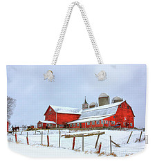 Vermont Barn Weekender Tote Bag by Sharon Batdorf