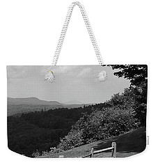 Weekender Tote Bag featuring the photograph Vermont Countryside 2006 Bw by Frank Romeo