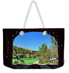 Vermont Covered Bridge Weekender Tote Bag