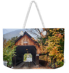 Vermont Fall Colors Over The Middle Bridge Weekender Tote Bag