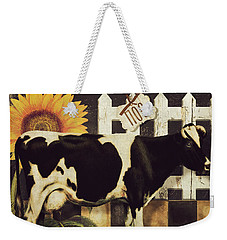 Vermont Farms Cow Weekender Tote Bag