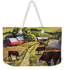 Vermont Going For The Green On Jenne Farm Weekender Tote Bag