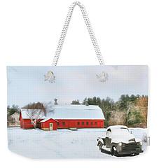 Weekender Tote Bag featuring the digital art Vermont Memories by Sharon Batdorf